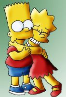 Lisa and Bart by meli-lulu
