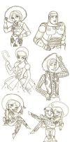 Toy Story Sketch Dump by K-Lynn99