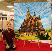 Heddal Stavkirke Painting by AtomiccircuS