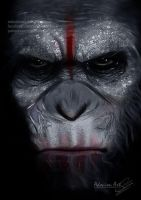Caesar ~ Dawn of the Planet of the Apes by AdovionArt
