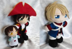 Commissions, Hetalia Mini Plushies by ThePlushieLady