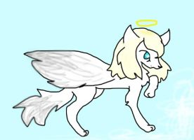 Angel Wolf by Colourfulcookiepup