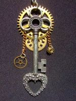 Steampunk Keyblade by freakjob013