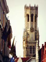 Leaning Tower of Bruges by OwlsomeArts