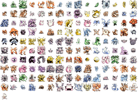 Green Pokemon Sprites by ghost-crabs