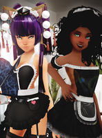 Outfit request #9 | Maid Ami and Desiree | + NSFW by SnowEmbrace