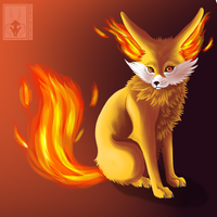Fennekin Ablaze by Azureith
