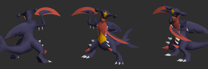 Mega Garchomp Papercraft Model Finish by RavaMaster