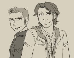 Sam and Dean sketches by dreamwatcher7