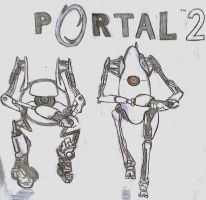 Portal 2 Fan Art by unchainxmxhrt