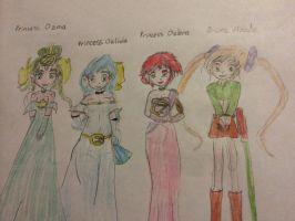 Princess Ozma and some OC characters by Amphitrite7