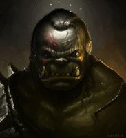 Defeated orc (2014) by Bzitz