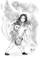 Commission: My hero, My angel by Klaudia-Ayame