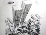 pen drawing New York buildings by wwei