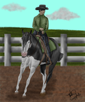 ZombieOverLoad Commission 3 - Western Pleasure by crazykate1