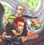 Snow and Magma - Naaviance and Hellfire by Ganjamira