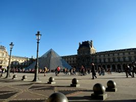 Sitting at the Louvre by Michies-Photographyy