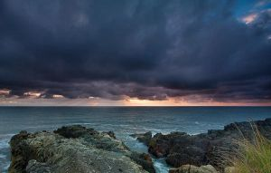 Stormy Sunrise Louisbourg NS by EvaMcDermott