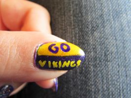 Vikings Nails Close Up 2 by QueenAliceOfAwesome