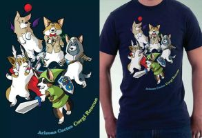 Cosplay Corgi T-shirt Design by ladyarrowsmith