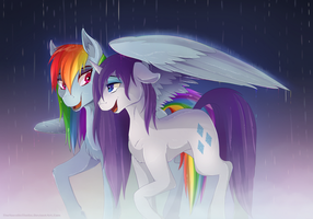 Rainbow Showers by TheNornOnTheGo