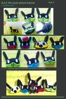 Felt : B.A.P Bunny plushies [Picture tutorial] Pt2 by CraftCandies