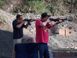 My dad and his friend shoting by Highlynx