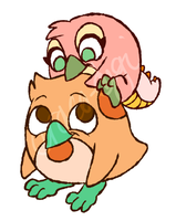 Draco and Apricot Lolp style by Draco-Digi