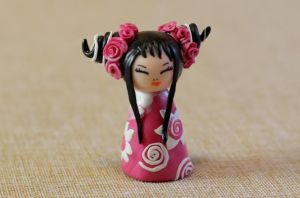 Little Kokeshi Pink Rose by ZanetaGc
