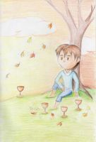Four of Cups by myintermail