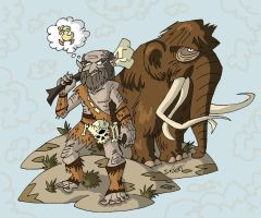 Noble Mammoth Herder by NewtMan