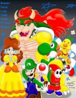 Favorite Mario Crew by Bowser2Queen