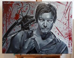 Daryl Dixon - The Walking Dead - Painting by Optigasm-Art