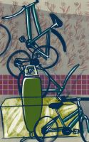 Bikes in the kitchen 1 by Disty
