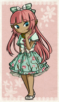 Coral in a purdy date dress by Icy-Snowflakes