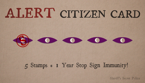 Alert Citizen Card by missbagel