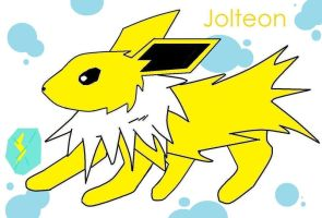 Jolteon - Made with paint by Blind-Fox
