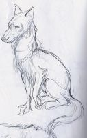 Dog a la Claire Wendling by Nortya