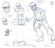 TF2 - Engie Doodles by In-Tays-Head