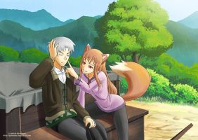 Kamiken Spice and wolf by Kamiken1