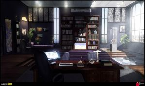 Gray Matter- Hellborn's Office by jamga