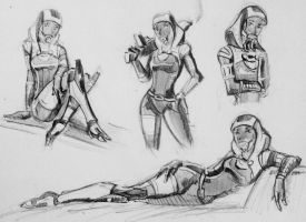 sketches Tali (121) by spaceMAXmarine