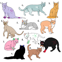 Free Cat Adoptables 1 by marleymahdog