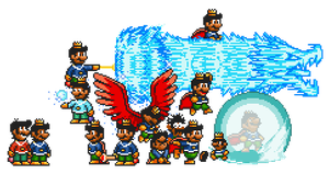 Upcoming Sea Side Mushroom King sprites by Legend-tony980