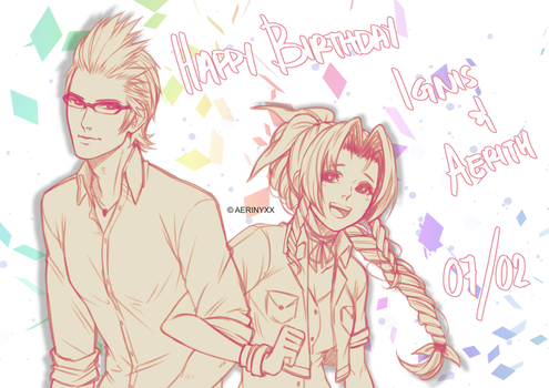 HBD Ignis and Aerith by Aeruko
