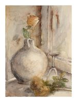 still life with roses by modliszqa