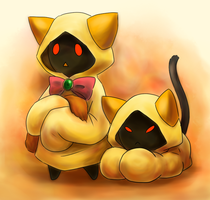kaka kittens by RikioChan