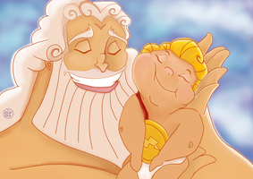 Zeus and Hercules by Smiley1starrs