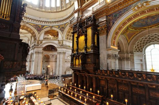 St Paul's Organ Loft by squareonion