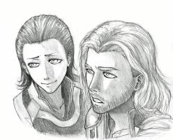 Thor and Loki by Harinezumi69